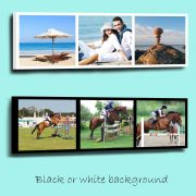 Personalised 3 picture collage framed canvas print